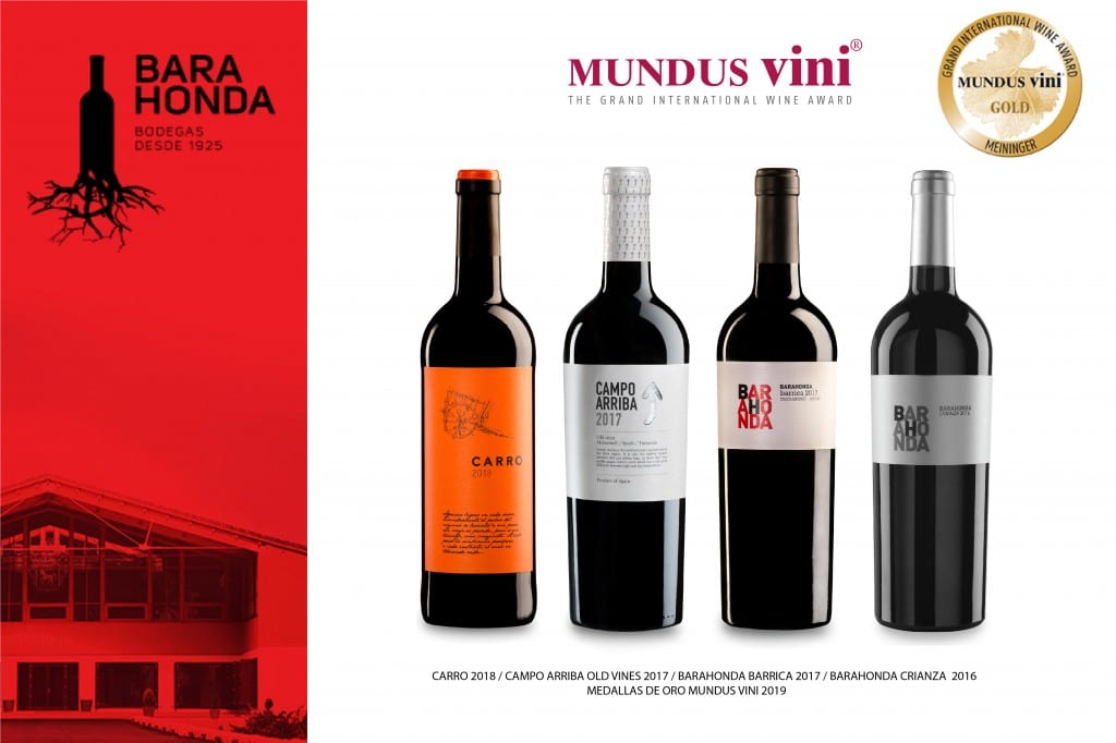 Four Barahonda wines awarded with gold medal at Mundus Vini.