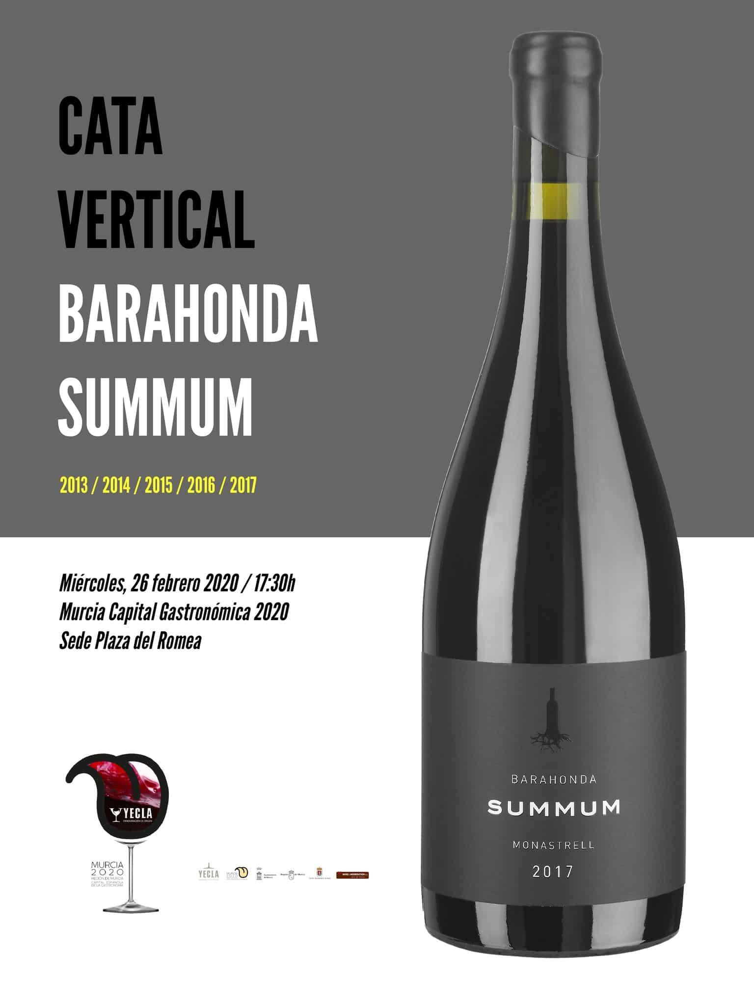 Cata vertical de Barahonda en Murcia Capital Gastronómica 2020